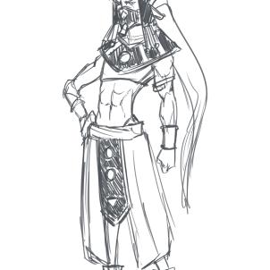 Kaeska as a God of Destruction