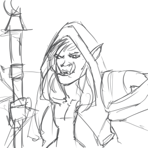 Jaina, except she's an Orc